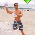 Ken loves clean beaches…