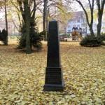 black tombstone and playground