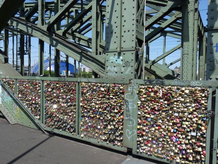 Padlocks at the Hohenzollern-bridge