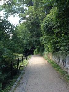 Walk along Rostock's former city wall