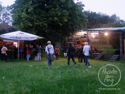 The open air stage in the Rostocker Klostergarten (Nunnery garden)