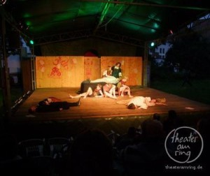 The Theater am Ring plays Shakespeares A Midsummer Night's Dream in the Klostergarten