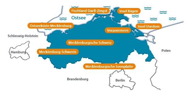 Mediendatenbank-Tourismusverband-Mecklenburg-Vorpommern Urlaubsregionen