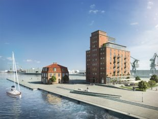Ohlerich Speicher Wismar, Foto: Visualisierung Angelis Penta Real Estate GmbH Co. KG